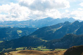 Beautiful view of the Alps in the summer — Stock Photo