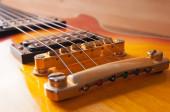 Bridge electric guitar sunburst — Stock Photo