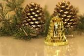 Christmas pine cones — Stock Photo