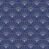 Japanese Embroidery Ornament with fans. — Stockvector