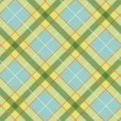 Pattern with Plaid Fabric — Stock Vector
