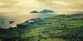 Beautiful seascape in County Kerry - vintage effect. — Stock Photo