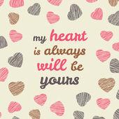 'Prendere il mio cuore e lascia mai parte' tipografia. Giorno di San Valentino. — Vettoriale Stock