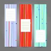 Set of Vertical Colorful Banners. Abstract Geometric ornament. Vector backgrounds. — Stockvector