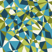 Abstract mosaic pattern with triangles. Seamless vector. Green background. — Stock Vector