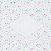 Text frame. Traditional Japanese Embroidery Ornament with rhombs. — ストックベクタ