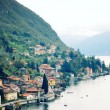 Small town of Varenna at Lake Como - vintage effect. — Stock Photo #63588689