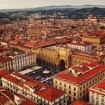 Постер, плакат: Piazza della Repubblica Republic square aerial view Florence