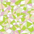 Abstract mosaic pattern with triangles. Seamless vector pattern. Pale colors. — Stock Vector #64853131
