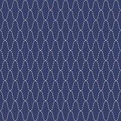 Traditional Japanese Embroidery Ornament. Wavy Sashiko. Seamless vector pattern. — Stock Vector