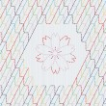 Traditional Japanese Embroidery Ornament with sakura flower. Sashiko. — Stock Vector #68673195