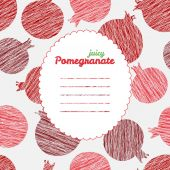 Repeating pomegranates background — Stock Vector