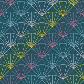 Abstract fan pattern. Based on Traditional Japanese Embroidery.  — Stok Vektör