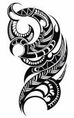 Maori styled tattoo pattern — Stock Vector