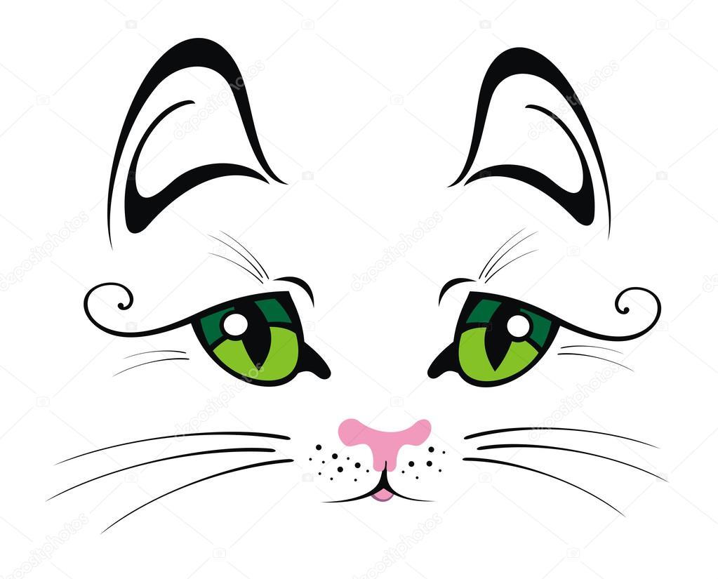 Рисунки кошек их глаза