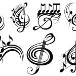 Ornamental music notes — Stock Vector #67528787