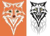 Vektör görüntü bir fox — Stok Vektör