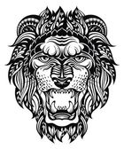 Lion Head Graphic — Stock Vector