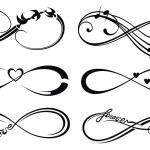 Infinity love, forever symbol — Stock Vector #76345047