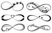 Infinity love, forever symbol — Stock Vector