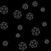 Geometric simple monochrome minimalistic pattern of hexagon or icosahedron  shapes — ストックベクタ
