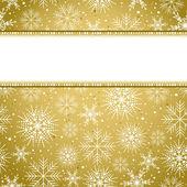 Goldene weihnachten hintergrund — Stockvektor