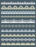 Set of Lace Paper  for christmas, vector — Stock Vector