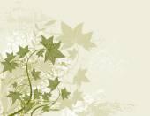 Современный вектор зеленый фон с многих листьев — Cтоковый вектор