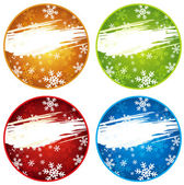 Color christmas labels with snowflakes, vector — Stock Vector