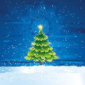 Green christmas tree, vector — Stock Vector
