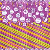 Color christmas card, vector — Stock Vector