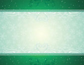 Green christmas background, vector — Stock Vector