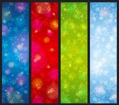 Brightness color christmas banners, vector — Vetorial Stock