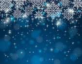 Blue background with snowflakes, vector — Vector de stock