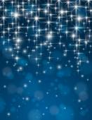 Christmas blue background with brilliance stars, vector — Stock Vector