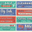 Christmas  banners with sale offer, vector illustration — Stock Vector #55093593