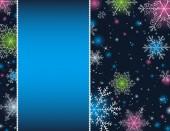 Blue christmas background, vector illustration — Stock Vector