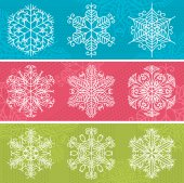 Christmas background with snowflakes, vector — Stock Vector