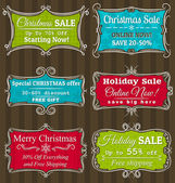 Set of special sale offer labels and banners — Vecteur