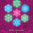 Purple christmas background with snowflakes, vector — Stock Vector #56005267