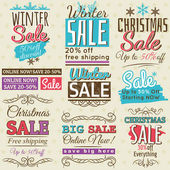 Christmas  banners with sale offer, vector illustration — Stockvector