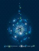Blue background with snowflake, vector — Stock Vector