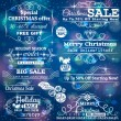 Set of special sale offer labels and banners and blue christmas — Stock Vector #56667693