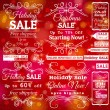Set of special sale labels and banners and red christmas backgr — Stock Vector #57102937