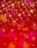 Christmas red background with brilliance stars — Stock Vector