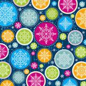 Fundo de natal com flocos de neve, vetor — Vetorial Stock