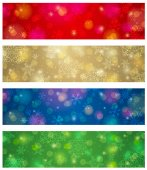 Brightness color christmas banners, vector illustration — Stock Vector