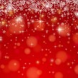 Red background with snowflakes, vector — Stock Vector #57170239
