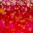 Red background with snowflakes, vector — Stock Vector #57284361