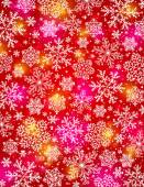 Red background with snowflakes, vector EPS10 — Stock Vector